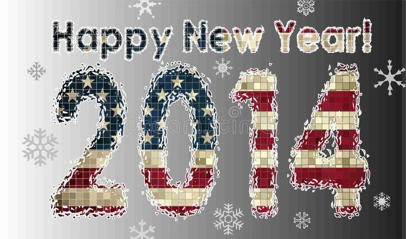 Szczęśliwy Nowy 2014 ilustracja wektor