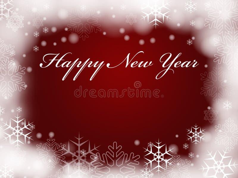 szczęśliwy nowy czerwony rok royalty ilustracja