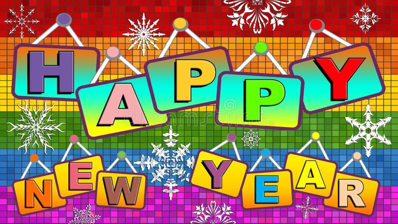Szczęśliwy nowy homoseksualny rok royalty ilustracja