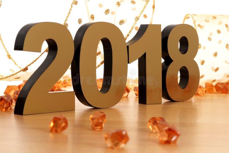 Szczęśliwy nowy rok 2018 obraz stock