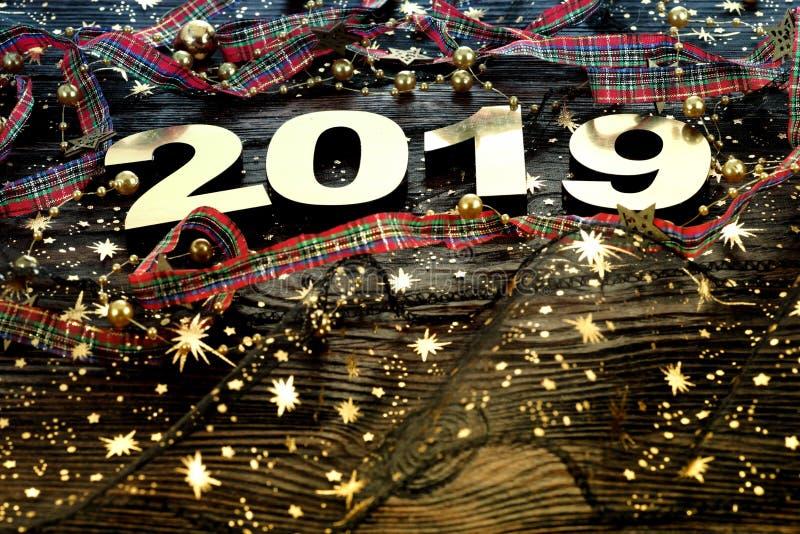 Szczęśliwy nowy rok 2019 obrazy stock