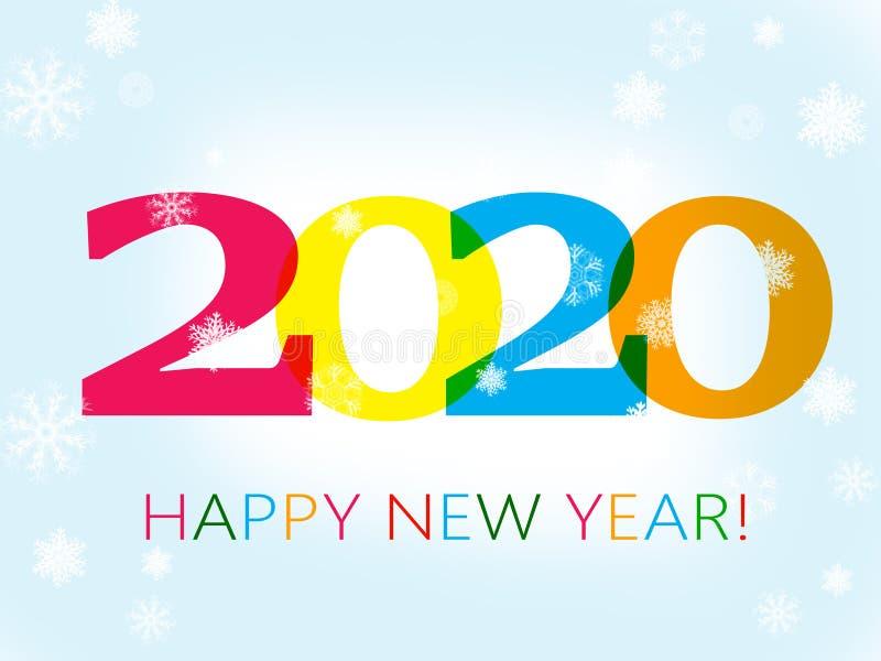 Szczęśliwy nowy rok 2020 ilustracja wektor
