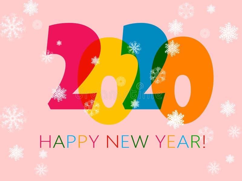 Szczęśliwy nowy rok 2020 royalty ilustracja
