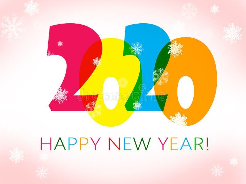 Szczęśliwy nowy rok 2020 ilustracji