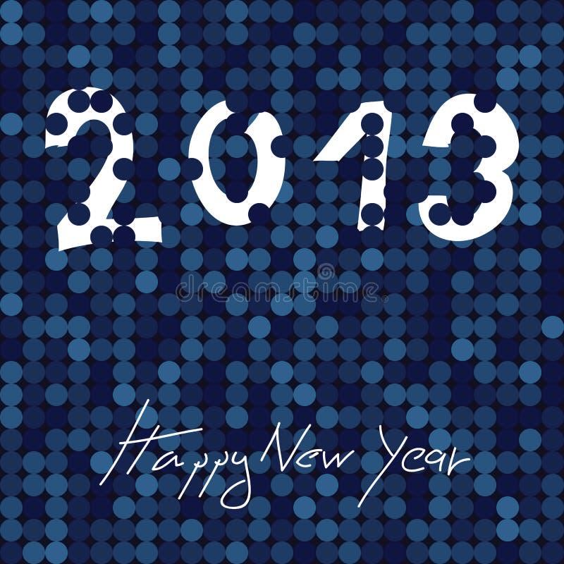 Szczęśliwy nowy rok 2013 ilustracja wektor