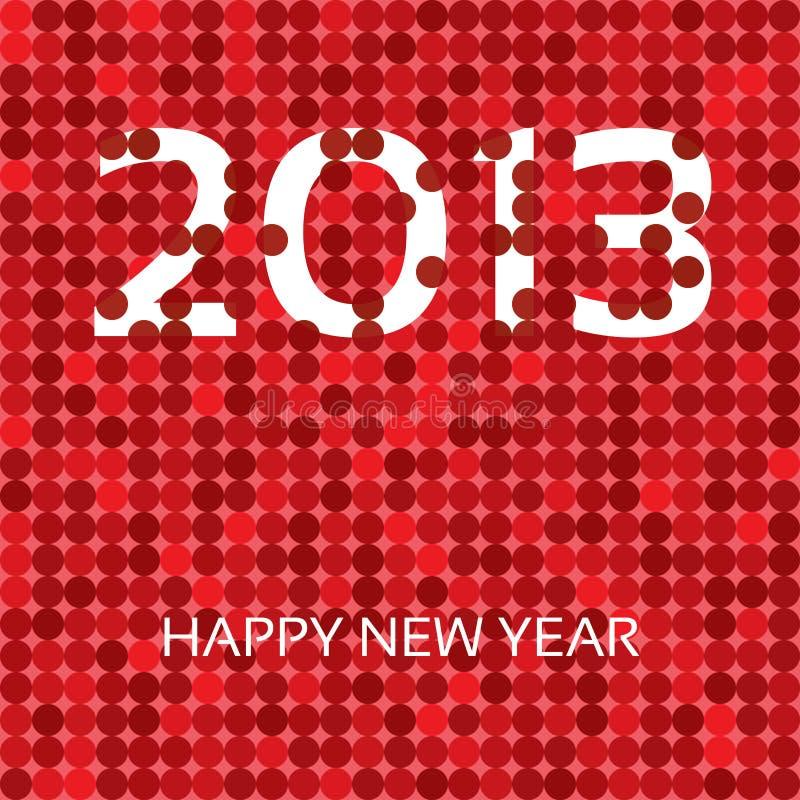 Szczęśliwy nowy rok 2013 royalty ilustracja