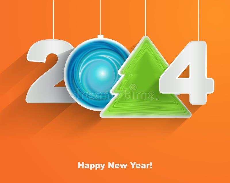 Szczęśliwy nowy rok 2014 royalty ilustracja