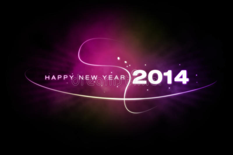 Szczęśliwy nowy rok 2014 zdjęcia royalty free
