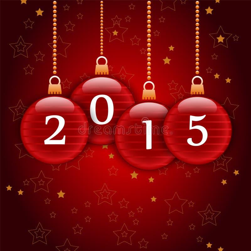 Szczęśliwy nowy rok 2015 ilustracja wektor