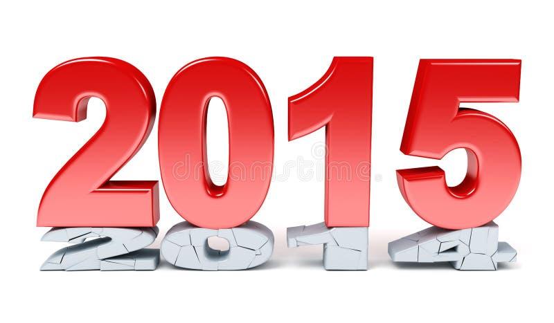 Szczęśliwy nowy rok - 2015 royalty ilustracja