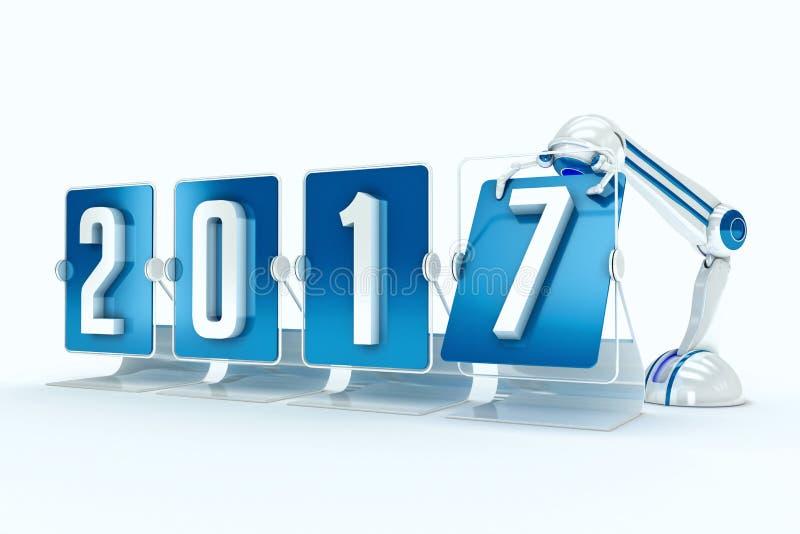 Szczęśliwy nowy rok 2017 ilustracja wektor
