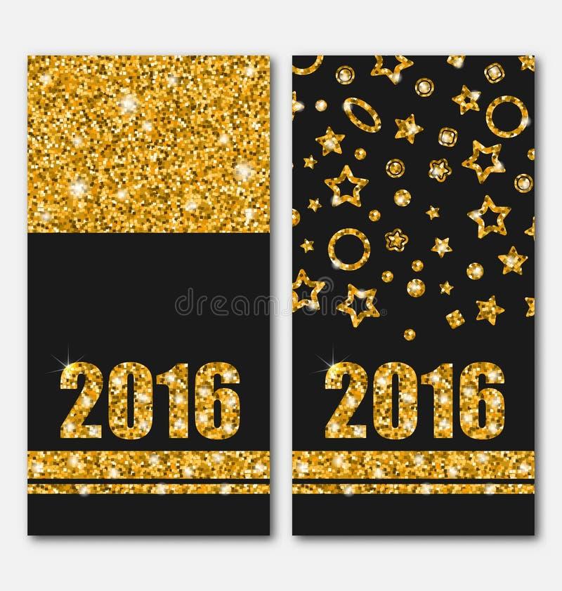 Szczęśliwy nowy rok 2016 ilustracja wektor
