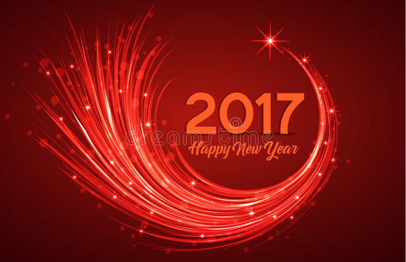 Szczęśliwy nowy rok 2017 royalty ilustracja
