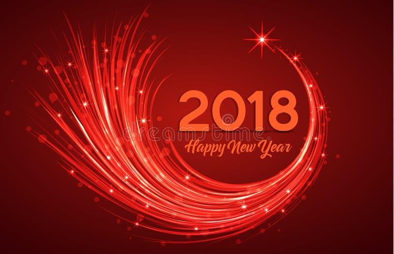 Szczęśliwy nowy rok 2018 royalty ilustracja