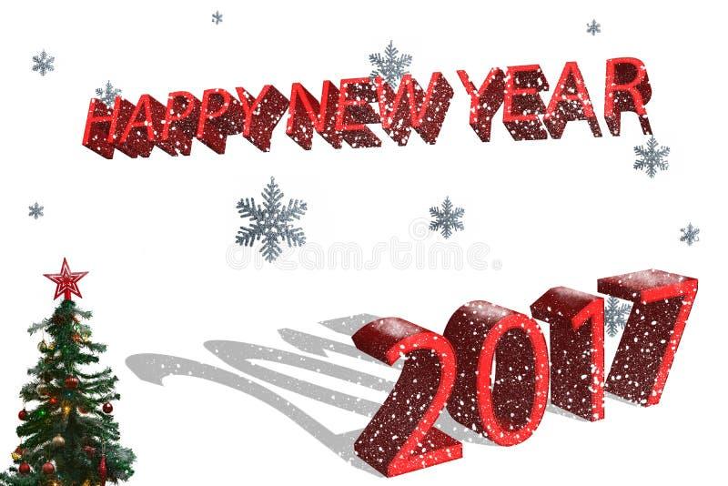 Szczęśliwy nowy rok 2017 zdjęcia stock
