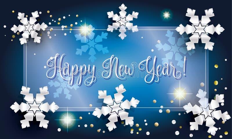 Szczęśliwy nowy rok 2017 ilustracji