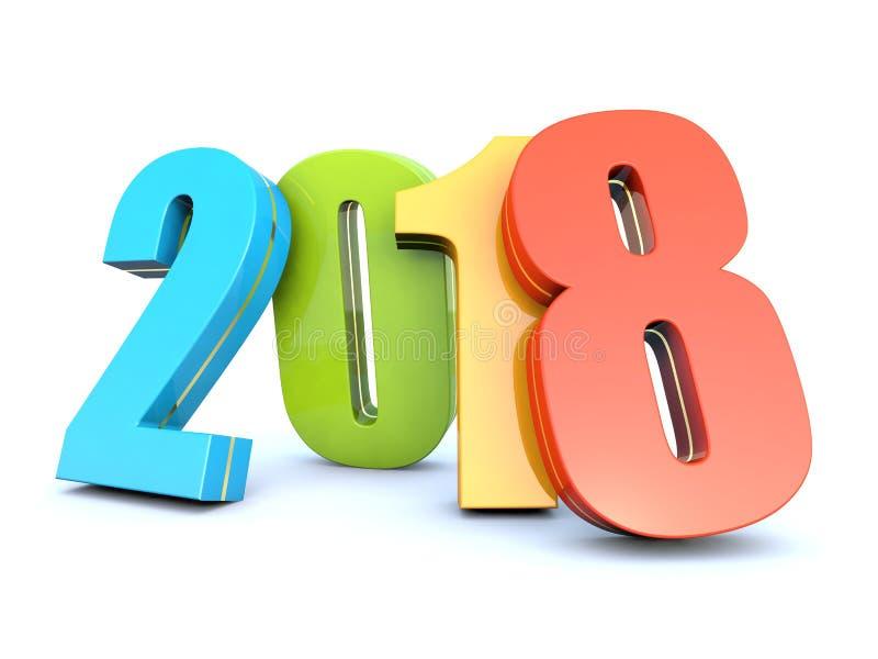 Szczęśliwy nowy rok 2018 ilustracji