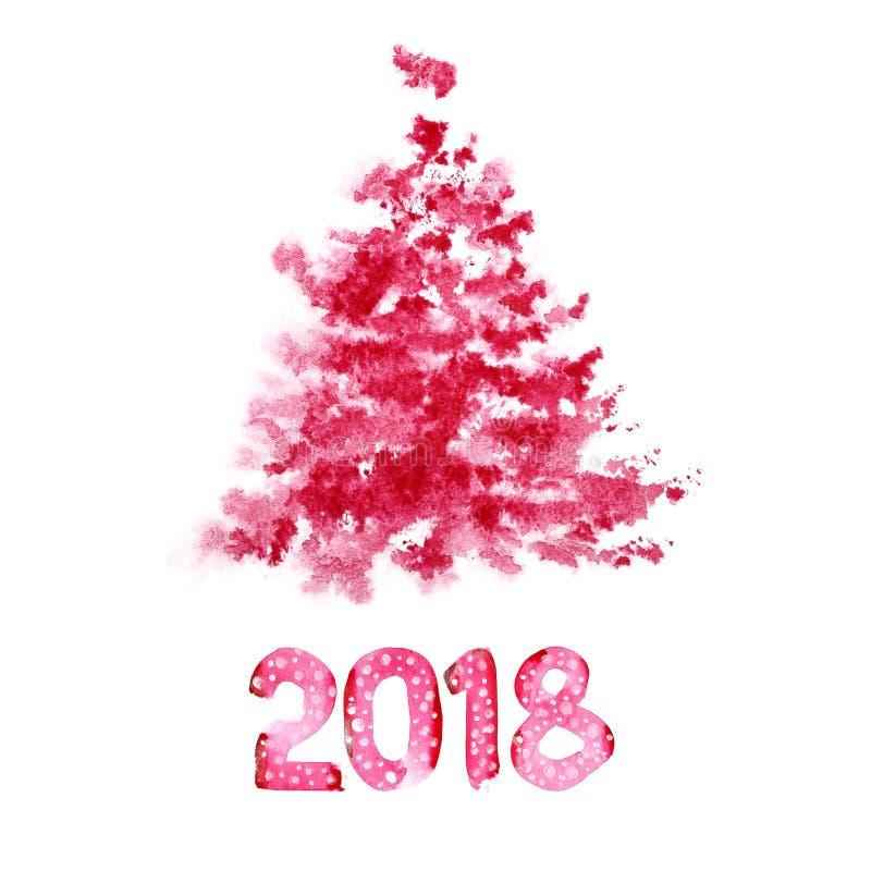 Szczęśliwy nowy rok 2018 ilustracja wektor
