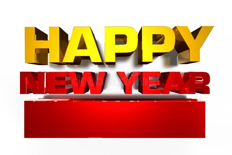 Szczęśliwy nowy rok 2019 3D ilustracja wektor