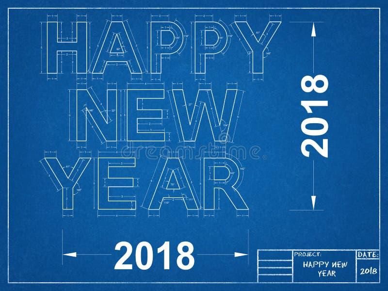 Szczęśliwy nowy rok 2018 - projekt royalty ilustracja