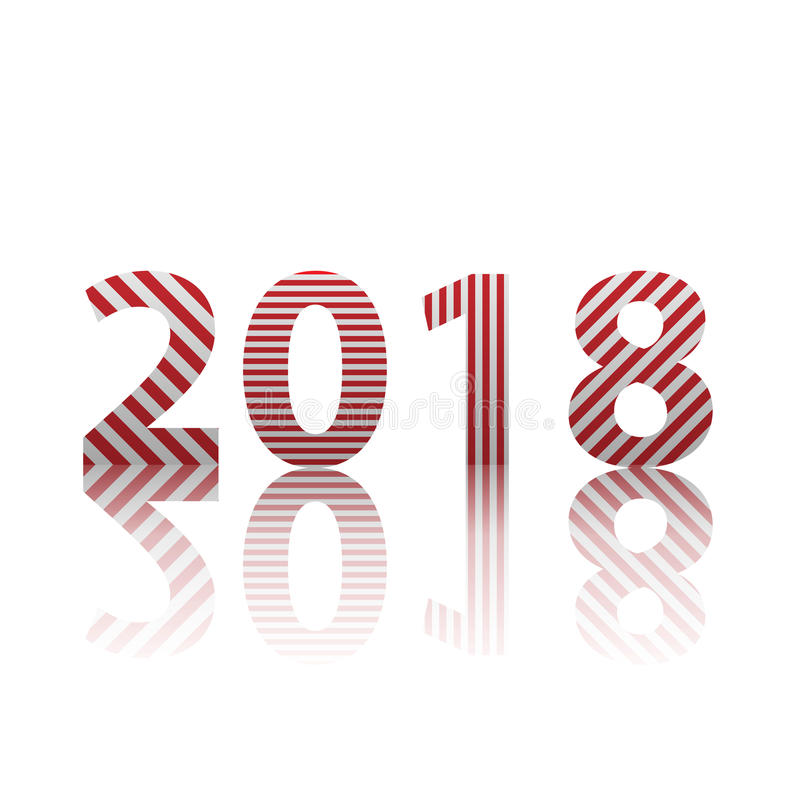 Szczęśliwy nowy rok 2018 Teksta projekta wektoru ilustracja obrazy royalty free