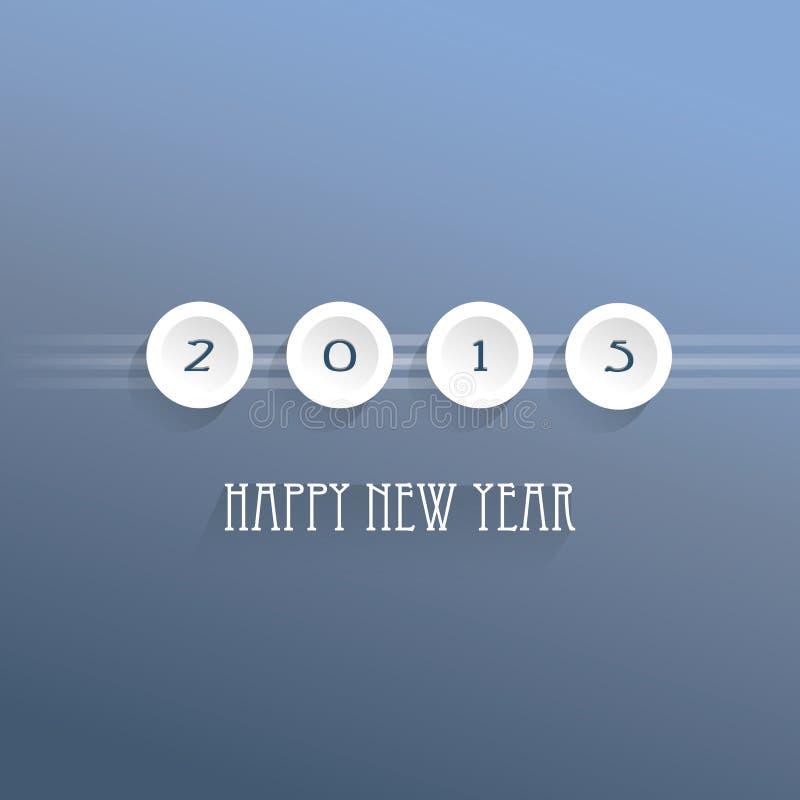 Szczęśliwy nowy rok 2015 - wektorowy tło royalty ilustracja