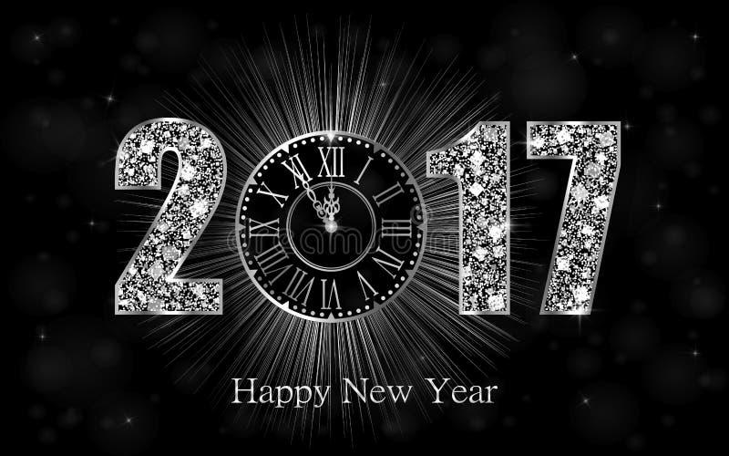 Szczęśliwy nowy rok 2017 Wektorowy tło ilustracji