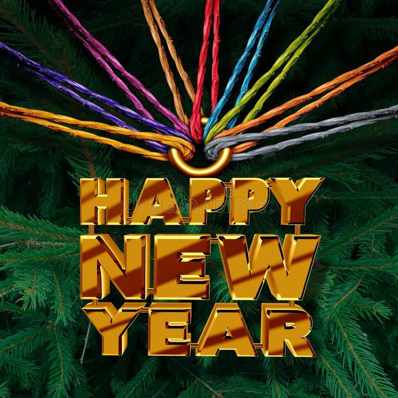 Szczęśliwy nowy rok Wpólnie royalty ilustracja