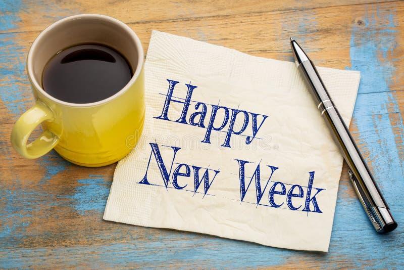 Szczęśliwy Nowy tydzień na pielusze obraz stock