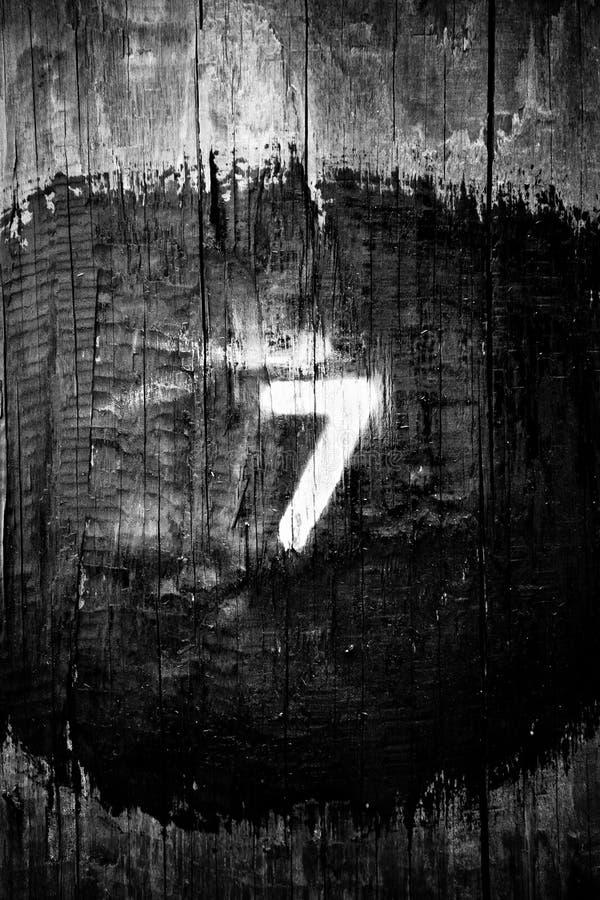 Szczęśliwy numer siedem dla sumy obraz royalty free