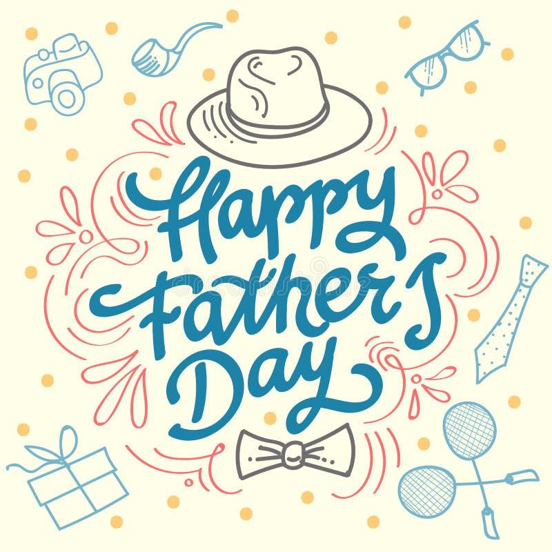 Szczęśliwy ojca dnia najlepszy tata royalty ilustracja