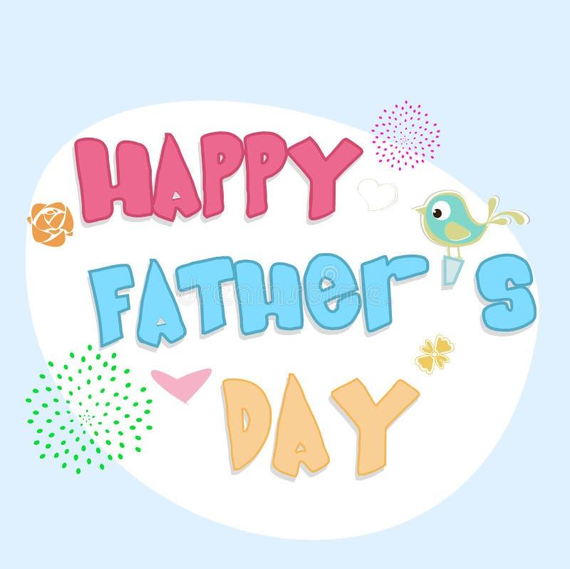 Szczęśliwy ojca dnia pojęcie. ilustracja wektor