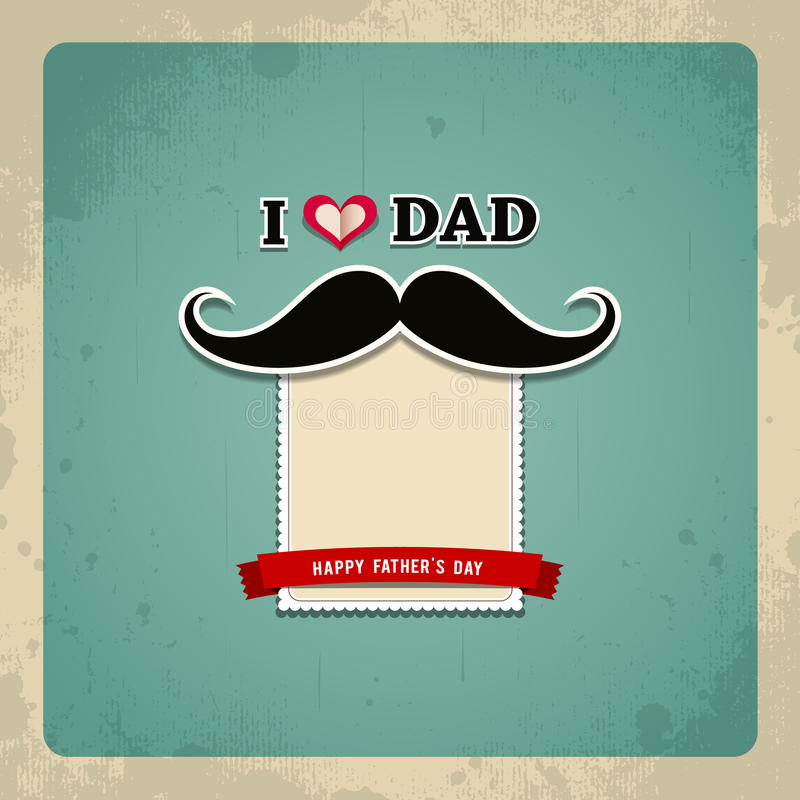 Szczęśliwy ojca dnia rocznika kartka z pozdrowieniami ilustracji