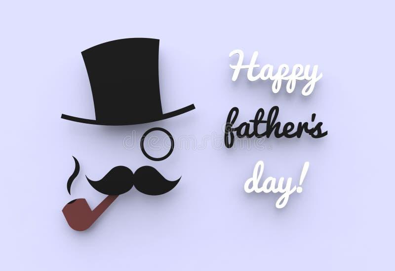 Szczęśliwy ojca dzień royalty ilustracja
