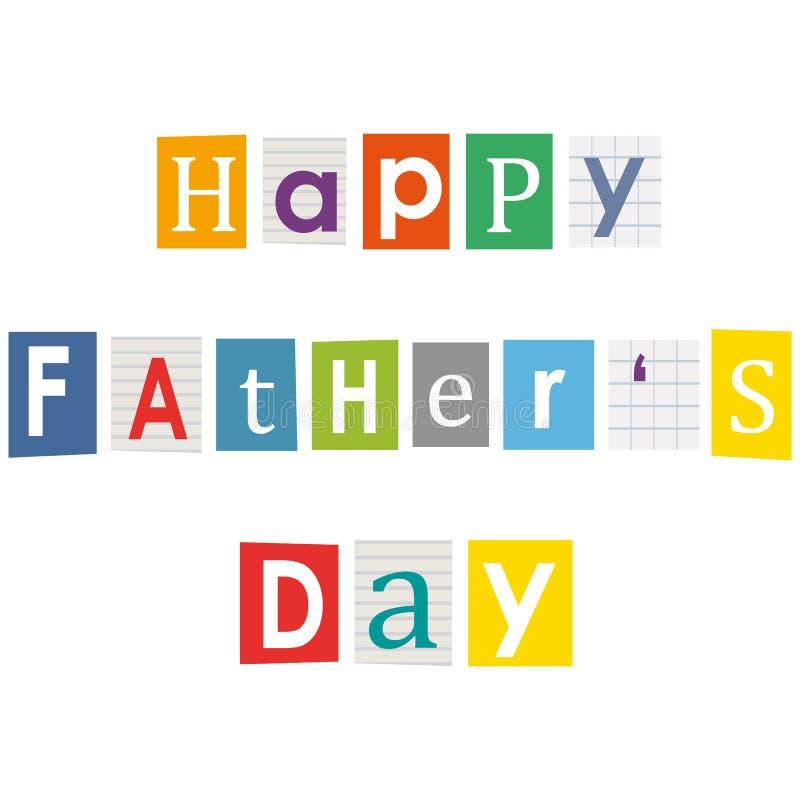 Szczęśliwy ojca dzień. ilustracja wektor