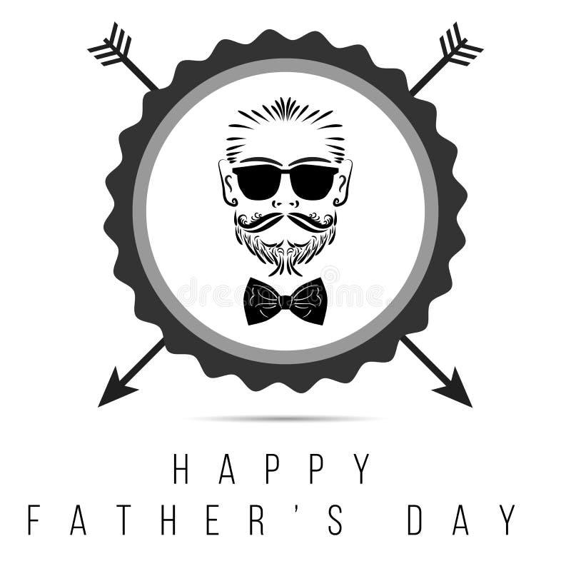 Szczęśliwy ojca ` s dnia modnisia logo w odosobnionym ilustracja 10 eps alternatywy com colldet10709 colldet10711 projektuje drea ilustracja wektor