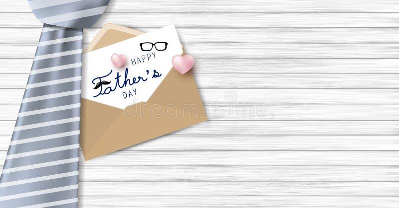 Szczęśliwy ojca ` s dnia projekt ilustracja wektor