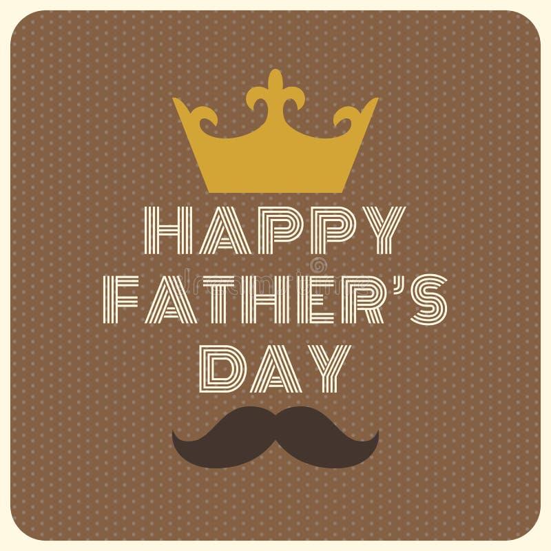 Szczęśliwy ojca ` s dnia rocznik typographical royalty ilustracja