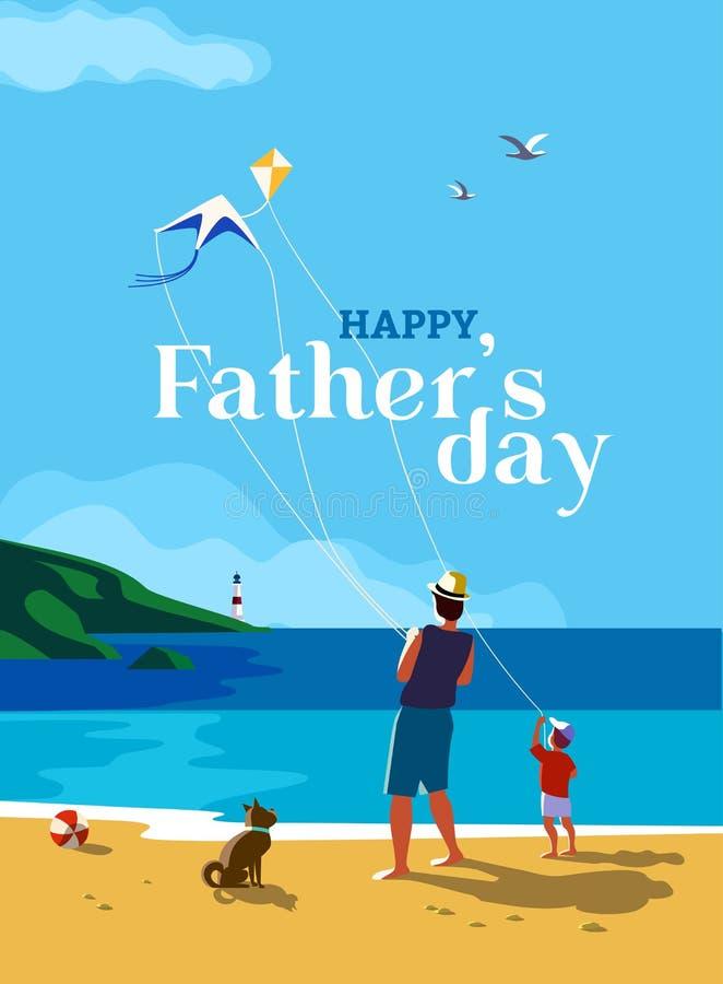 Szczęśliwy ojca ` s dzień royalty ilustracja