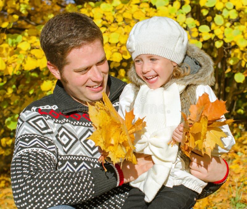 Szczęśliwy ojciec i córka zdjęcie stock