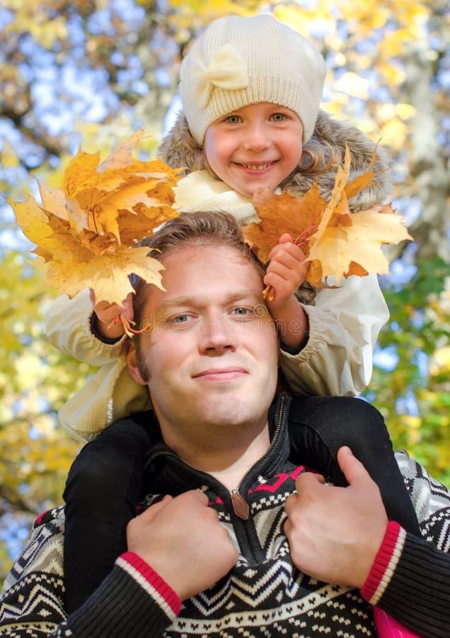 Szczęśliwy ojciec i córka fotografia royalty free