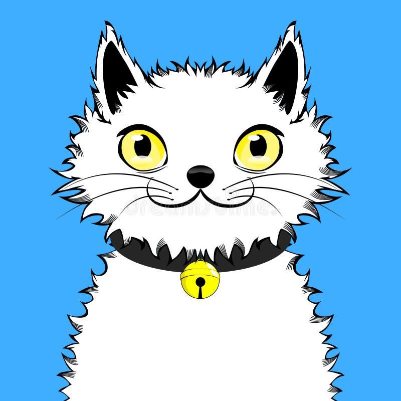 Szczęśliwy Optymistycznie kot ilustracja wektor