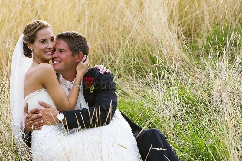 szczęśliwy para ślub zdjęcia stock