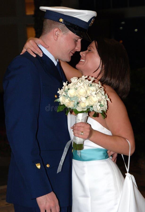 szczęśliwy para ślub obraz royalty free