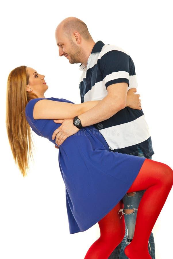 szczęśliwy para taniec fotografia royalty free