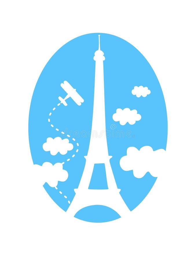 szczęśliwy Paris royalty ilustracja