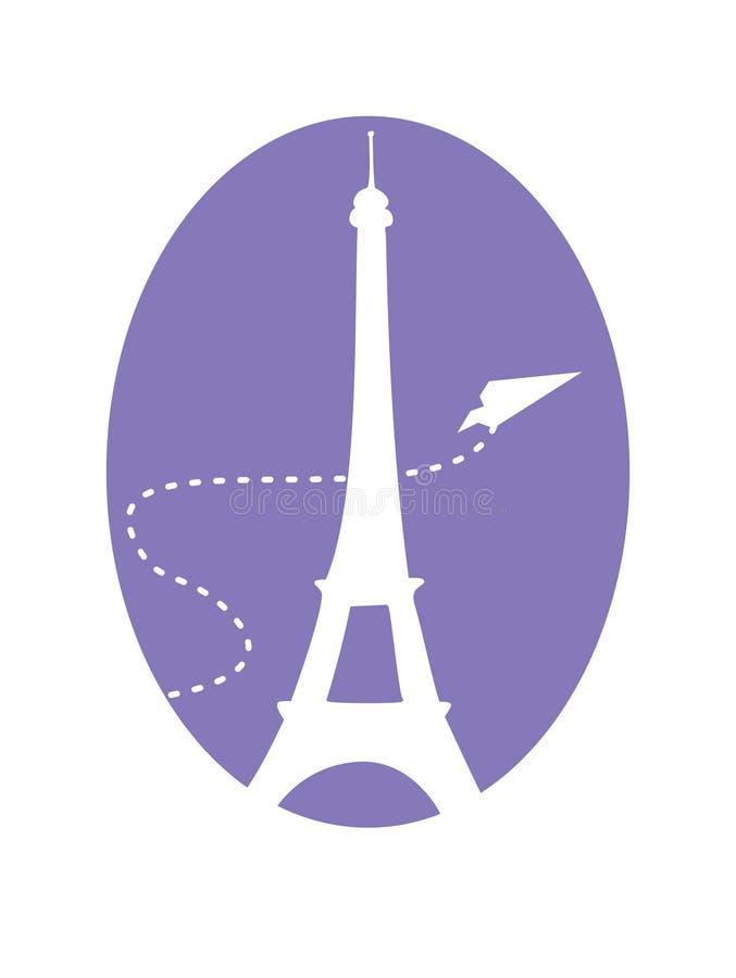 szczęśliwy Paris ilustracji