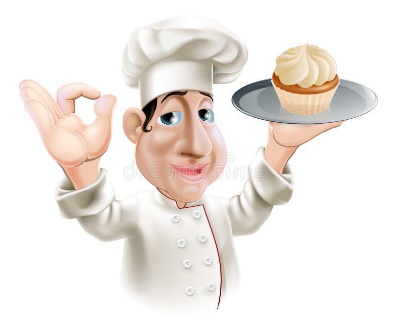 Szczęśliwy piekarz ilustracja wektor
