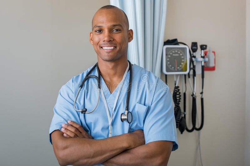Szczęśliwy pielęgniarki ono uśmiecha się zdjęcie royalty free