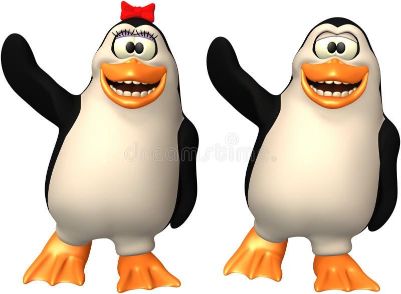 Szczęśliwy pingwin, pingwin ilustracja Odizolowywająca royalty ilustracja